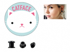 Catface Ear Plugs For Stretched Ears